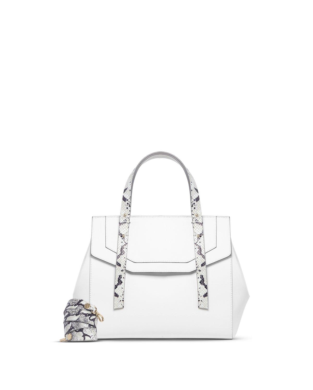 Kilesa Melissa borsa medium bianca con manico doubleface con tracolla