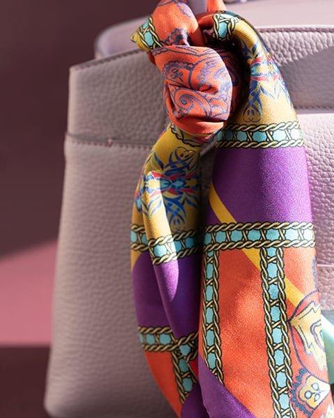 Kilesa foulard in pura seta viola