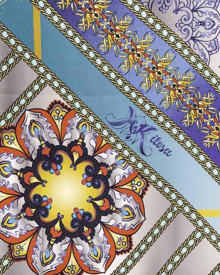 Kilesa foulard in pura seta fantasia