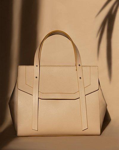 Kilesa Melissa real beige leathe handbag