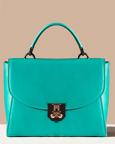 Kilesa Melly handbag in pelle verde acqua