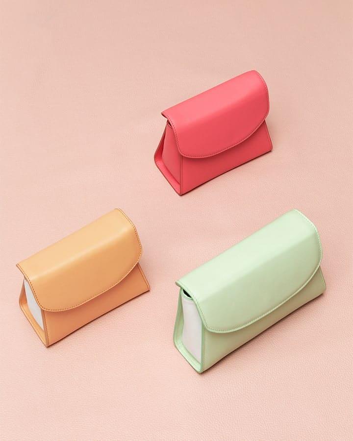 Kilesa Melly  real leather coloured mini bags
