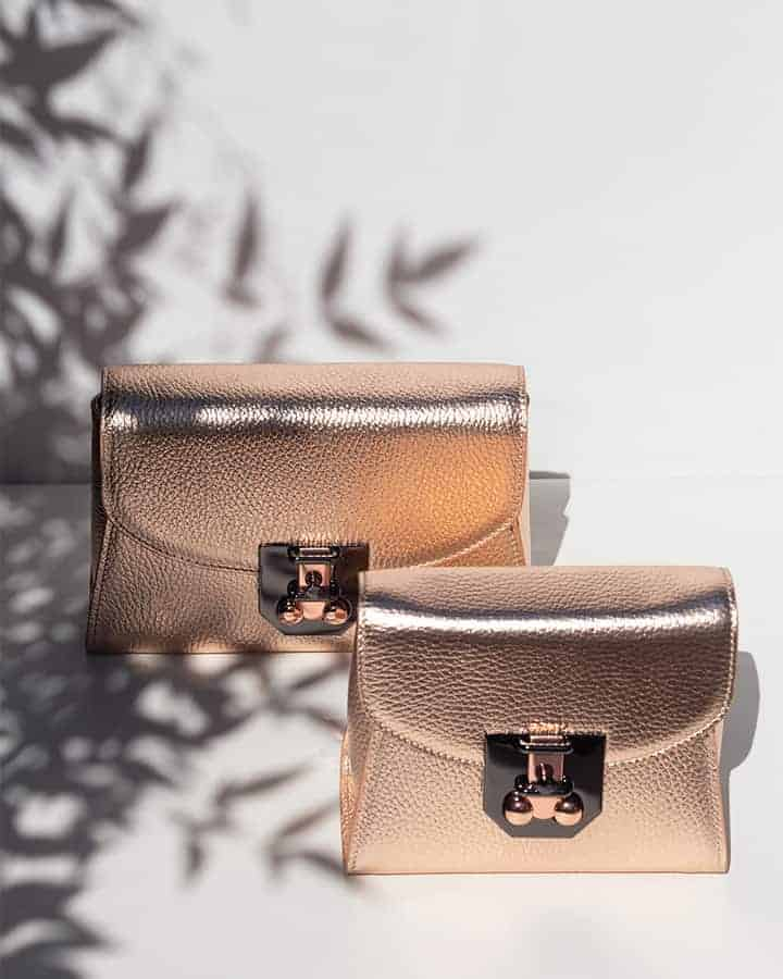 Made in Italy real shine leather mini bags
