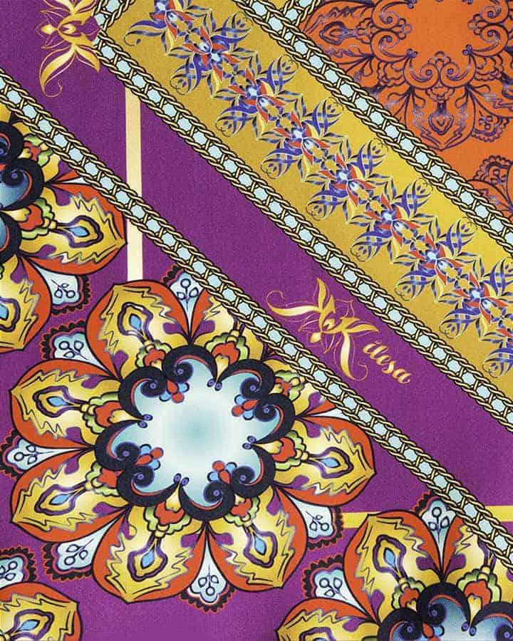 Foulard in pira seta made in italy fantasia