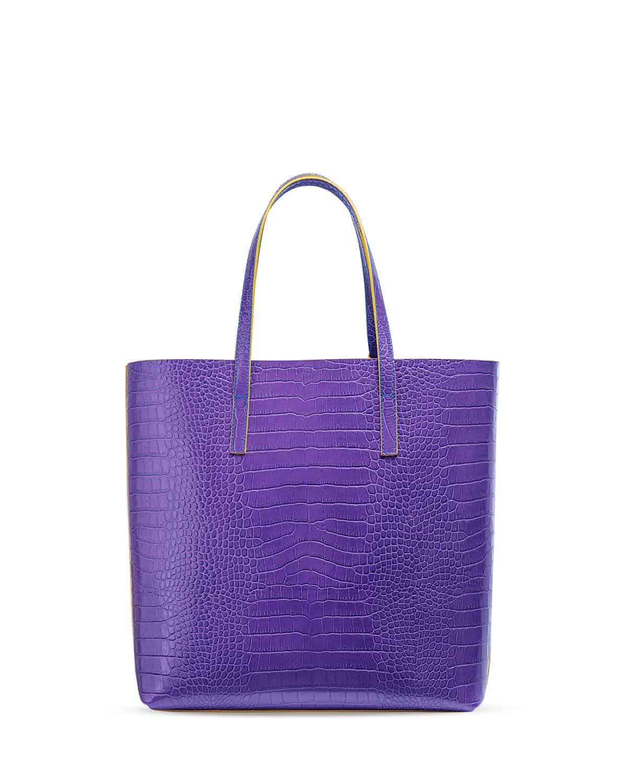 Kilesa wandy shopper bag coccolux leather purple back