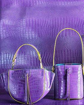 Kilesa Wandy secchiello e handbag in pelle viola