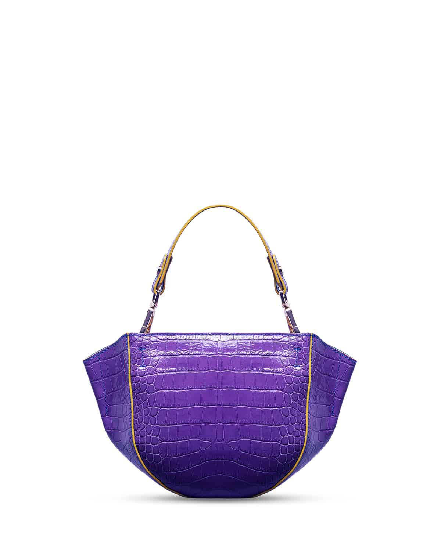 kilesa wandy handbag coccolux leather purple back