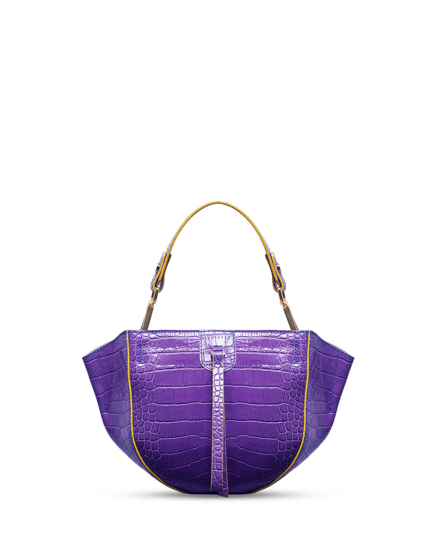 kilesa wandy handbag coccolux leather purple