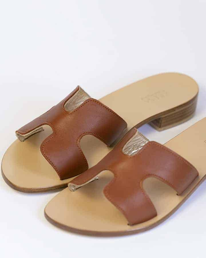 Kilesa real leather slippers made in italy