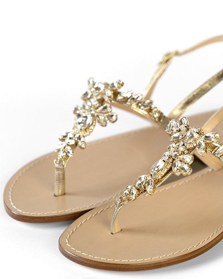 Sandali artigianali in pelle platino