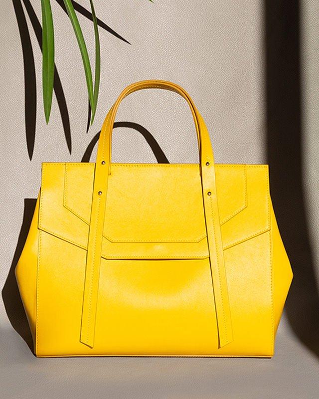 Kilesa yellow leather handbag Kilesa