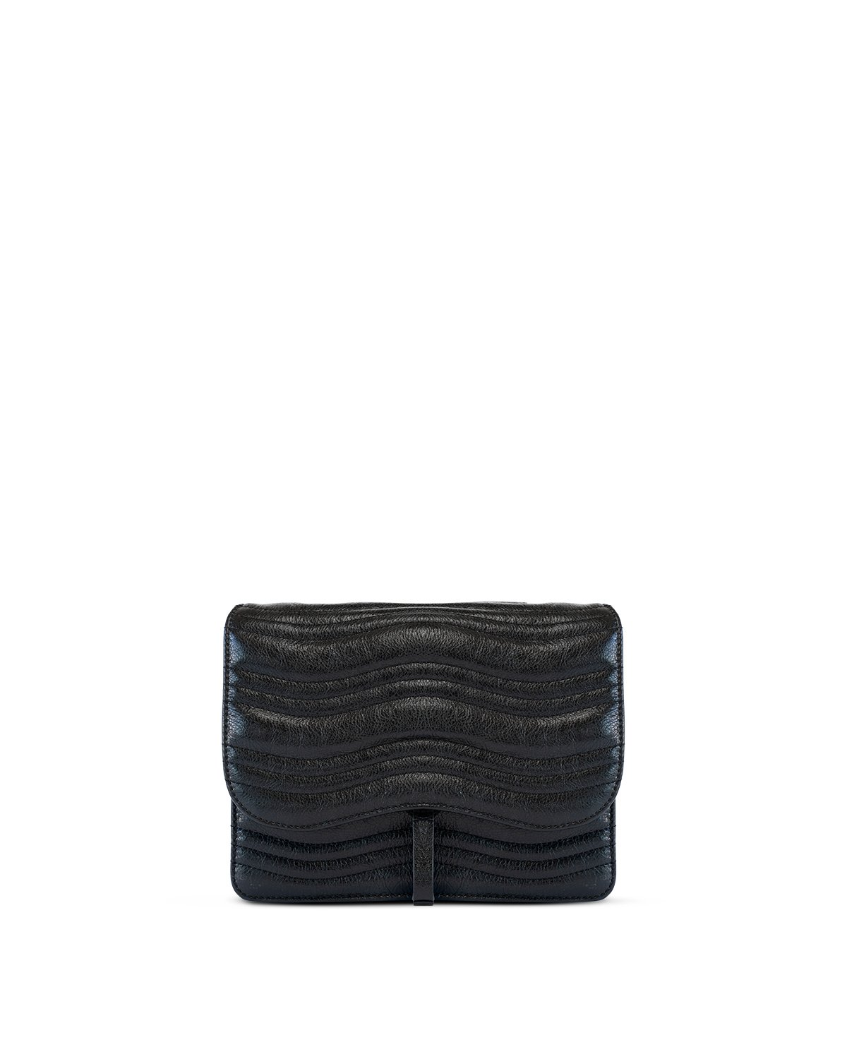 Kilesa luxury bag in pelle nera laminata