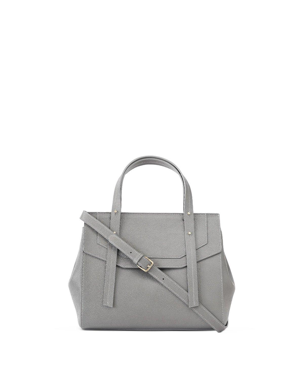 Kilesa Melissa handbag in pelle grigia stampa alce tracolla