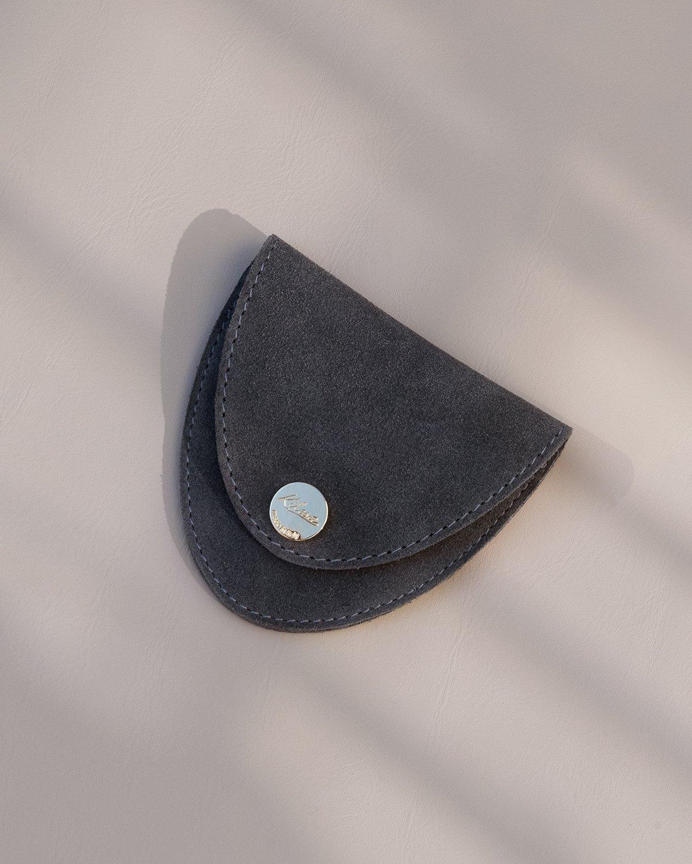 Kilesa pelletteria luxury portamonete camoscio grigio