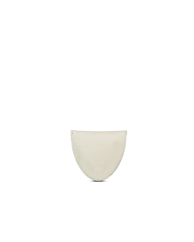 kilesa portamonete bianco pelle bottalata retro