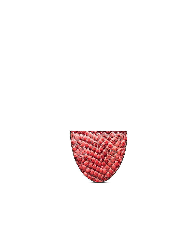 kilesa portamonete pitone rosso retro