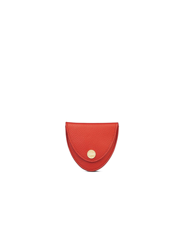 kilesa portamonete rosso pelle bottalata