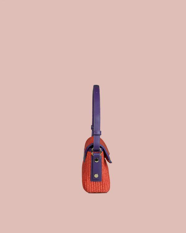 Nature Mini handbag Rosso NM03 Lato