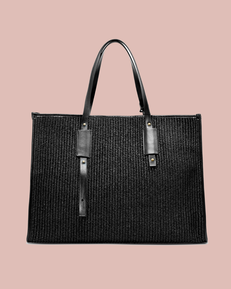Nature Shopper bag Nero NP01 Fronte