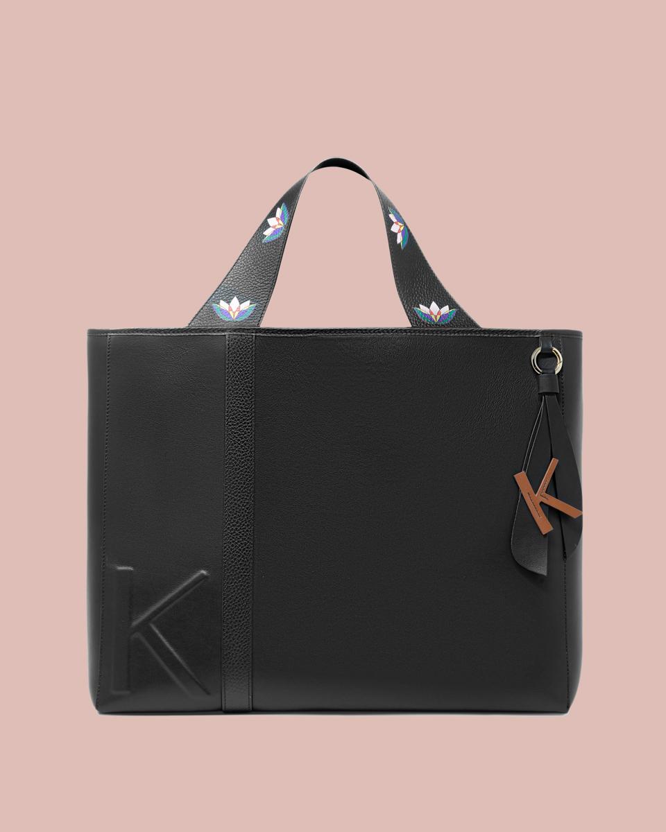 Kilesa Rinascimento maxi shopper in pelle nera